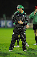 14th December 2013; Connacht head coach, Pat Lam, before the game. Heineken Cup Pool 3, round 4, Connacht v Toulouse, The Sportsground, Galway. Picture credit: Tommy Grealy/actionshots.ie.