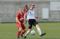 20180302 - LARNACA , CYPRUS : Austrian Katharina Schiechtl (r)  pictured with Czech Tereza Szewieczkova (left) during a women's soccer game between Austria and Czech Republic , on friday 2 March 2018 at the AEK Arena in Larnaca , Cyprus . This is the second game in group B for Austria and Czech Republic during the Cyprus Womens Cup , a prestigious women soccer tournament as a preparation on the World Cup 2019 qualification duels. PHOTO SPORTPIX.BE | DAVID CATRY
