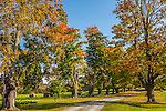 Fall foliage in Tiverton, Rhode Island, USA