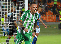 MEDELLIN - COLOMBIA, 14-06-2018: Dayro Moreno de Atlético Nacional celebra después de anotar el primer gol a Millonarios durante partido por la fecha 4 de la Liga Águila II 2018 jugado en el estadio Atanasio Girardot de la ciudad de Medellín. / Dayro Moreno player of Atletico Nacional celebrates after scoring the first goal to Millonarios during match for the date 4 of the Aguila League II 2018 played at Atanasio Girardot stadium in Medellin city. Photo: VizzorImage/Leon Monsalve/Cont