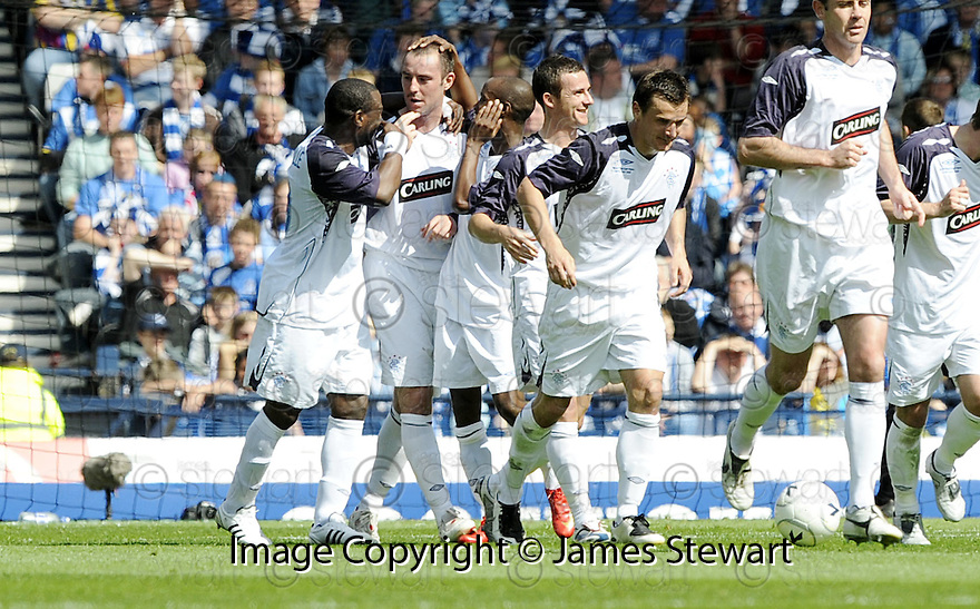 24/05/2008   Copyright Pic: James Stewart.File Name : sct_jspa04_qots_v_rangers.KRIS BOYD CELEBRATES AFTER HE SCORES THE FIRST.James Stewart Photo Agency 19 Carronlea Drive, Falkirk. FK2 8DN      Vat Reg No. 607 6932 25.Studio      : +44 (0)1324 611191 .Mobile      : +44 (0)7721 416997.E-mail  :  jim@jspa.co.uk.If you require further information then contact Jim Stewart on any of the numbers above........