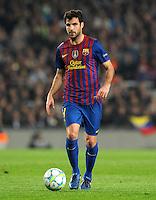 FUSSBALL  CHAMPIONS LEAGUE  VIERTELFINAL RUECKSPIEL   2011/2012      FC Barcelona - AC Mailand           03.04.2012 Cesc Fabregas (Barca)