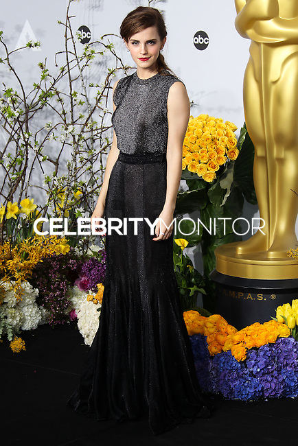 HOLLYWOOD, LOS ANGELES, CA, USA - MARCH 02: Emma Watson at the 86th Annual Academy Awards - Press Room held at Dolby Theatre on March 2, 2014 in Hollywood, Los Angeles, California, United States. (Photo by Xavier Collin/Celebrity Monitor)