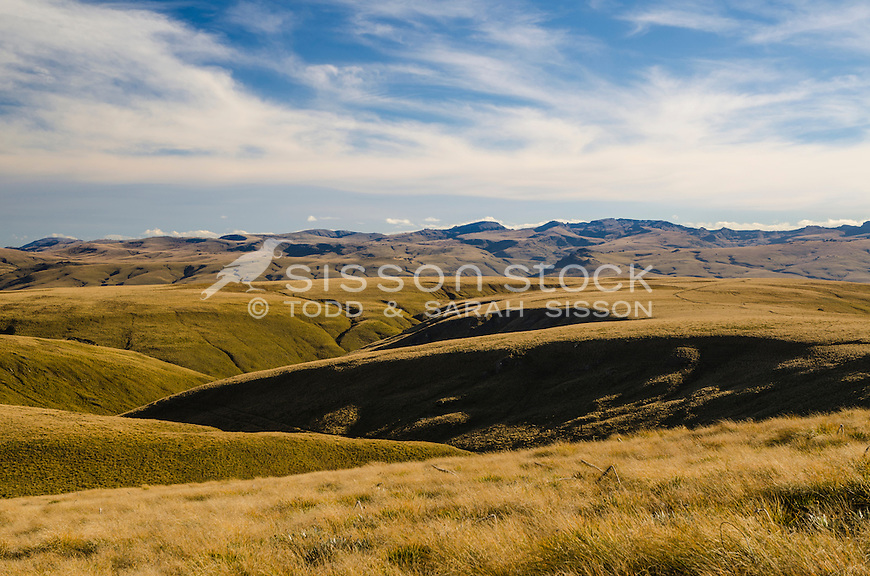 Old Man Range, Central Otago, South Island, New Zealand - stock photo, canvas, fine art print