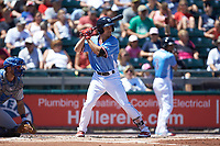Scott Kingery (11) of the Lehigh Valley Iron Pigs at bat against the Durham Bulls at Coca-Cola Park on July 30, 2017 in Allentown, Pennsylvania.  The Bulls defeated the IronPigs 8-2.  (Brian Westerholt/Four Seam Images)