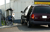 Kensington, MD - October 3, 2002 -- Tight shot of the van at the Shell Station in Kensington, MD where 25-year-old Lori Ann Lewis-Rivera was ambushed and killed while vacuuming out her vehicle this morning, 3 October, 2002 in Kensington, MD.<br /> Credit Ron Sachs / CNP<br /> <br /> (RESTRICTION: NO New York or New Jersey Newspapers or newspapers within a 75 mile radius of New York City)