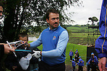 Graeme McDowell signs autographs during Practice Day 2 at the 2010 Ryder Cup at the Celtic Manor Twenty Ten Course, Newport, Wales, 29th September 2010..(Picture Eoin Clarke/www.golffile.ie)