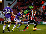 David Wheater of Bolton Wanderers holds Leon Clarke of Sheffield Utd during the Championship match at Bramall Lane Stadium, Sheffield. Picture date 30th December 2017. Picture credit should read: Simon Bellis/Sportimage