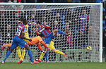 Crystal Palace's Glenn Murray hits the post with the last kick of the match<br /> <br /> Barclays Premier League - Crystal Palace  vs Arsenal  - Selhurst Park - England - 21st February 2015 - Picture David Klein/Sportimage