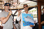 One Life To Live & As The World Turns Austin Peck & Walt Willey auctions of Austin Peck's painting at the Cruisin' & Schmoozin' with the Stars on the Marco Island Princess sightseeing tour of beautiful Marco Island, watching the dolphins, autographs, photos, auctions & a buffet luncheon on May 15 Marco Island, Florida - SWFL Soapfest Charity Weekend May 14 & !5, 2011 benefitting several children's charities including the Eimerman Center providing educational & outfeach services for children for autism. see www.autismspeaks.org. (Photo by Sue Coflin/Max Photos)