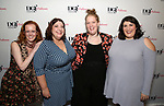 Anna O'Donoghue, Ashlie Atkinson, Morgan Gould and Nicole Spiezio attend the reception for the 2018 Presentation of New Works by the DGF Fellows on October 15, 2018 at the Playwrights Horizons Theatre in New York City.