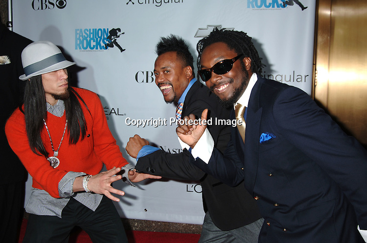 Black Eyed Peas..arriving at The Conde Nast Media Group's Third Annual Live Fashion Rocks Concert at Radio City Music Hall on September 7, 2006. ..Robin Platzer, Twin Images