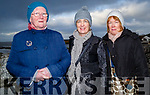 Bridget Kelly,Mary McCarthy and Clodagh at the Rosary by the Sea on Blennerville Bridge on Sunday.