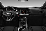 Stock photo of straight dashboard view of 2017 Dodge Challenger SRT 3 Door Coupe