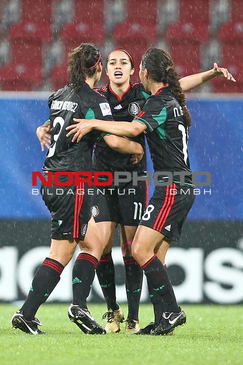 17.07.2010,  Augsburg, GER, FIFA U20 Womens Worldcup, England vs Mexico,  im Bild freude nach dem 0-1 durch Cuellar Renae (Mexico Nr.11) , Foto: nph /  Straubmeier