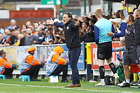 Frustration fro Wycombe Wanderers manager Gareth Ainsworth during AFC Wimbledon vs Wycombe Wanderers, Sky Bet EFL League 1 Football at the Cherry Red Records Stadium on 31st August 2019