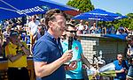 NIJMEGEN -  KNHB bestuurslid Mark Pel   na   de tweede play-off wedstrijd dames, Nijmegen-Huizen (1-4), voor promotie naar de hoofdklasse.. Huizen promoveert naar de hoofdklasse.  COPYRIGHT KOEN SUYK