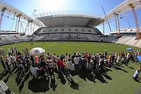 SAO PAULO, SP, 15.03.2014  - TREINO CORINTHIANS -  treino do Corinthians neste sábado na Arena Corinthians (Estadio Itaquerao) na região leste da cidade de São Paulo. (Foto: Vanessa Carvalho / Brazil Photo Press).