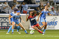 Chicago, IL - Saturday Sept. 24, 2016: Arin Gilliland, Crystal Dunn during a regular season National Women's Soccer League (NWSL) match between the Chicago Red Stars and the Washington Spirit at Toyota Park.