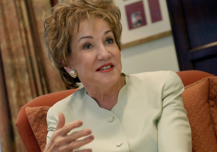 Sen. Elizabeth Dole, R-NC, at an interview at the Ronald Reagan Republican Center.