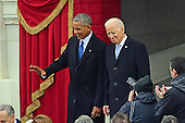 United States President Barack Obama and US Vice President Joe Biden arrive for the ceremony where Donald J. Trump will be sworn-in as the 45th President of the United States on the West Front of the US Capitol on Friday, January 20, 2017.<br /> Credit: Ron Sachs / CNP<br /> (RESTRICTION: NO New York or New Jersey Newspapers or newspapers within a 75 mile radius of New York City)