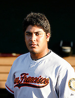 Hector Sanchez ---  AZL Giants - 2009 Arizona League.Photo by:  Bill Mitchell/Four Seam Images