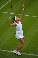 24-06-13, England, London,  AELTC, Wimbledon, Tennis, Wimbledon 2013, Day one, Ana Ivanovic (SRB) serving<br /> <br /> <br /> <br /> Photo: Henk Koster