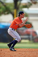 Houston Astros Aaron Mizell (55) during an instructional league game against the Atlanta Braves on October 1, 2015 at the Osceola County Complex in Kissimmee, Florida.  (Mike Janes/Four Seam Images)