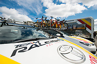 Picture by Allan McKenzie/SWpix.com - 16/07/17 - Cycling - HSBC UK British Cycling Grand Prix Series - Velo29 Altura Stockton Grand Prix - Stockton, England - Team Raleigh GAC, branding.