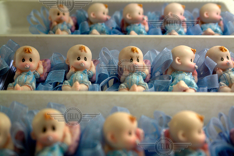 Sweets in the shape of babies in a cake shop in Tbilisi...