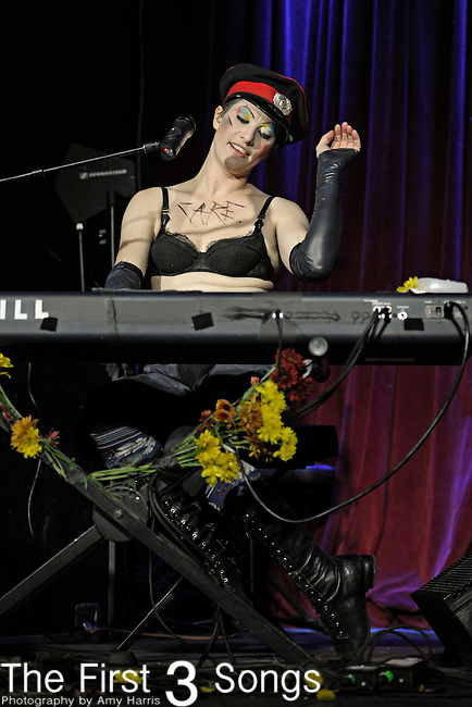Amanda Palmer of the Dresden Dolls performs at Buster's Billiards & Backroom in Lexington, Kentucky.
