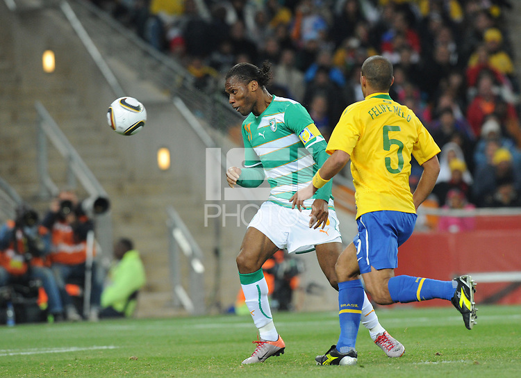 Brazil defeated Ivory Coast, 3-1, in an important Group G match, Sunday, June 20th, at Soccer City Stadium in Johannesburg..