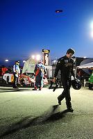 May 2, 2008; Richmond, VA, USA; NASCAR Nationwide Series driver Burney Lamar walks away from his car after suffering engine problems during the Lipton Tea 250 at the Richmond International Raceway. Mandatory Credit: Mark J. Rebilas-US PRESSWIRE