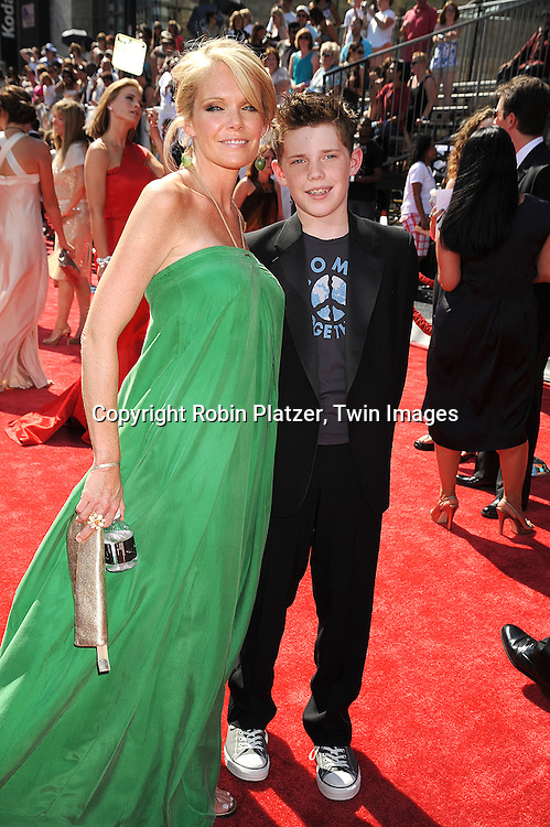 Maura West and son Benjamin Knight..at The 35th Annual Daytime Entertainment Emmy Awards at The Kodak Theatre on June 20, 2008 in Hollywood California.....Robin Platzer, Twin Images