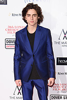 Timothee Chalamet at the 38th Annual London Critics' Circle Film Awards at the Mayfair Hotel, London, UK. <br /> 28 January  2018<br /> Picture: Steve Vas/Featureflash/SilverHub 0208 004 5359 sales@silverhubmedia.com