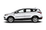 Car Driver side profile view of a 2018 Ford Escape SE 5 Door SUV Side View