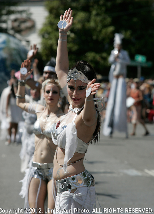 Dancers perform during the 25th  Annual Fremont Summer Solstice Parade in Seattle on June 22, 2013.      UPI Photo/Jim BryantPainted nude bicyclists  ride during the 25th  Annual Fremont Summer Solstice Parade in Seattle on June 22, 2013.     ©2013.  Jim Bryant.  ALL RIGHTS RESERVED.