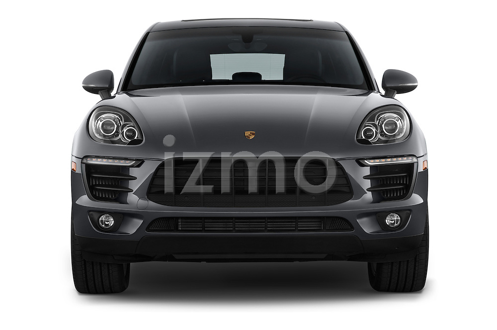 Car photography straight front view of a 2018 Porsche Macan S 5 Door SUV Front View