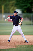 Bobby Witt Jr (15) while playing for Indians Scout Team based out of Cleveland, Ohio during the WWBA World Championship at the Roger Dean Complex on October 21, 2017 in Jupiter, Florida.  Bobby Witt Jr is a shortstop / pitcher from Colleyville, Texas who attends Colleyville Heritage High School.  (Mike Janes/Four Seam Images)