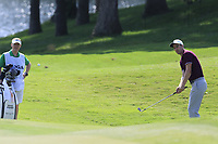 Ross Fisher (ENG) chips onto the 15th green during Friday's Round 2 of the 2017 PGA Championship held at Quail Hollow Golf Club, Charlotte, North Carolina, USA. 11th August 2017.<br /> Picture: Eoin Clarke | Golffile<br /> <br /> <br /> All photos usage must carry mandatory copyright credit (&copy; Golffile | Eoin Clarke)