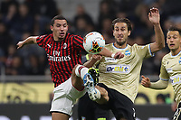 Ismael Bennacer of AC Milan challenges Simone Missiroli of SPAL during the Serie A match at Giuseppe Meazza, Milan. Picture date: 31st October 2019. Picture credit should read: Jonathan Moscrop/Sportimage PUBLICATIONxNOTxINxUK SPI-0286-0025<br /> Milano 31-10-2019 Stadio San Siro <br /> Football Serie A 2019/2020 <br /> AC Milan - SPAL<br /> Photo Jonathan Moscrop/Sportimage / Imago  / Insidefoto <br /> ITALY ONLY