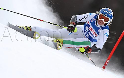 21.01.2012. Ski Alpine FIS WC Kranjska Gora RTL women  Ski Alpine FIS World Cup Giant slalom for women Picture shows Denise Carbon ITA