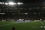 Haka. All Blacks beat Australia 22-0. Eden Park, Auckland. 25 August 2012. Photo: Marc Weakley