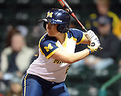 Michigan Wolverines Softball catcher Lauren Sweet (25) at bat during a game against the University of South Florida Bulls on February 8, 2014 at the USF Softball Stadium in Tampa, Florida.  Michigan defeated USF 3-2.  (Copyright Mike Janes Photography)