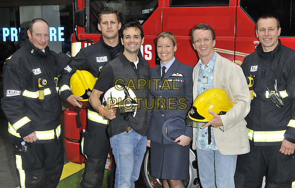 LONDON, ENGLAND - JULY 20: Ferrell Barron ( 3rd left ) &amp; Bobs Gannaway ( 2nd right ) attend the 'Planes 2: Fire &amp; Rescue' gala film screening, Odeon Leicester Square cinema, Leicester Square, on Sunday July 20, 2014 in London, England, UK. <br /> CAP/CAN<br /> &copy;Can Nguyen/Capital Pictures