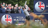Luke Donald (ENG) in action during the Final Round of the British Masters 2015 supported by SkySports played on the Marquess Course at Woburn Golf Club, Little Brickhill, Milton Keynes, England.  11/10/2015. Picture: Golffile | David Lloyd<br /> <br /> All photos usage must carry mandatory copyright credit (© Golffile | David Lloyd)