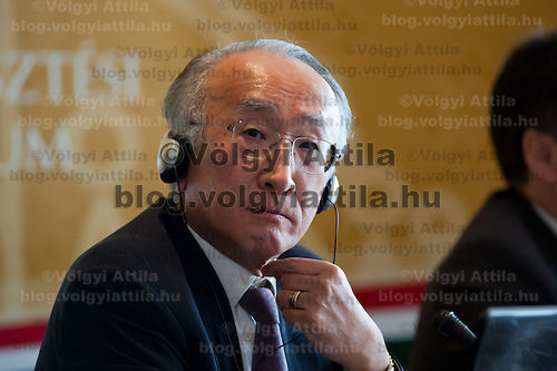 Nobuo Tanaka director of the International Energy Agency (IEA) attends a press conference in Budapest, Hungary on July 15, 2011. ATTILA VOLGYI in Budapest, Hungary on July 15, 2011. ATTILA VOLGYI
