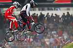 Jukia Yoshimura (JPN), <br /> AUGUST 25, 2018 - Cycling - BMX : <br /> Men's BMX Race Competition <br /> at Pulo Mas International BMX Center <br /> during the 2018 Jakarta Palembang Asian Games <br /> in Jakarta, Indonesia. <br /> (Photo by Naoki Morita/AFLO SPORT)