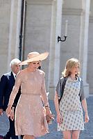 Roma, 20 Giugno 2017<br /> La Regina M&aacute;xima dei Paesi Bassi e Laura Mattarella<br /> Quirinale<br /> Visita di Stato dei Reali dei Paesi Bassi in Italia