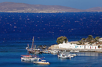 The small port of Saint John in Mykonos, Greece